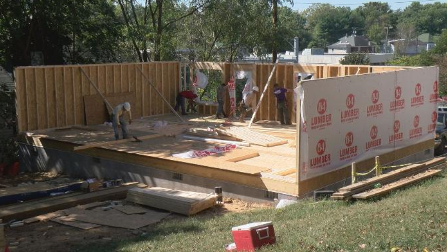 WDBJ7: Roanoke motorcycle group builds free house for homeless military veteran