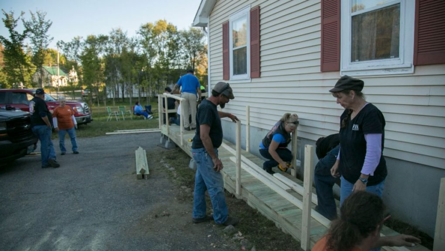 The Ellsworth American: Veterans group build ramps for military matriarch, age 95