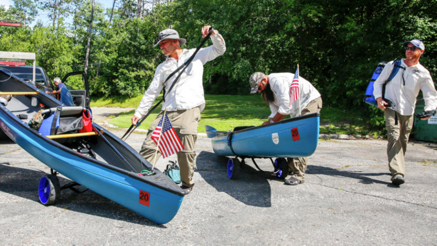 "West Fargo Pioneer: Seeking solace on the river: Warrior Expeditions helps veterans ""walk off the war"""